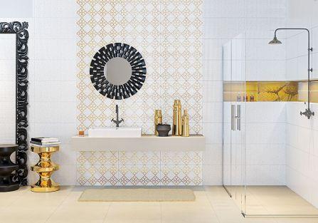 Łazienka złotem zdobiona