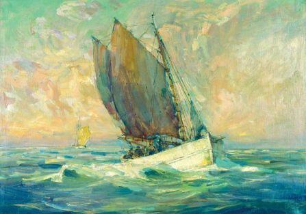 Marian Mokwa, 1955 r., Centralne Muzeum Morskie w Gdańsku, fot. E. Meksiak
