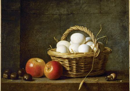 Martwa natura z koszem jajek , Henri Horace, 1788 r.