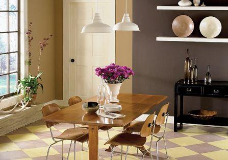 Mieszkanie pomalowane farbami Benjamina Moore