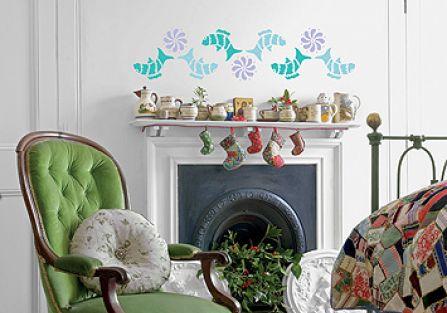 Ryba na ścianę - szablon do malowania