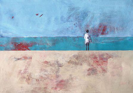 Obraz Beaty Będkowskiej. Wielki błękit na obrazach