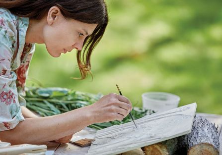roma roman portrety roślin