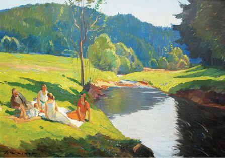 Piknik nad rzeką , Artur Wasner, aukcja z dn. 3.10.2010, nr kat. 31, DESA Katowice