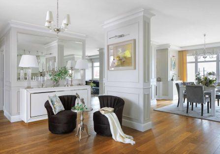 wnętrza styl klasyczny z nowoczesnym