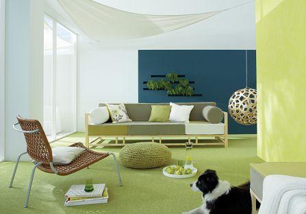 Ściany pomalowane farbami Caparol. Ściany z rumieńcem od Caparola