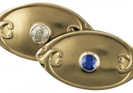 Secesyjne z szafirem i diamentem, ok. 1900 r., Tiffany Company, WWW.JEWELRYEXPERT.COM
