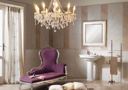Seria Pierre de Cluny to propozycja Cerabati (Marazzi Francja) na łazienkę haute couture. STEPIM