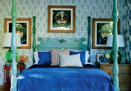 Sypialnia dla najlepszego kolegi, Chrisa Cortazzo. Dom stoi w Kaliforni.