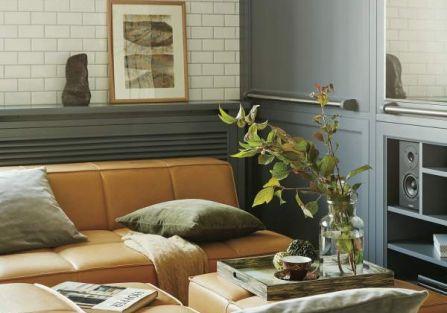 szary salon szara szafa w stylu vintage
