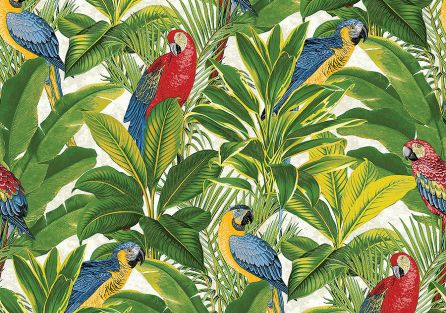 Tapeta Grandeco Ideco Home Exotic Parrots, 8 funtów/rolka, cutpricewallpaper.co.uk