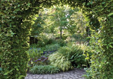 Ogród w Holandii: trochę w cieniu, trochę w słońcu