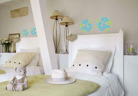 Dekoracyjny motyw w sypialni