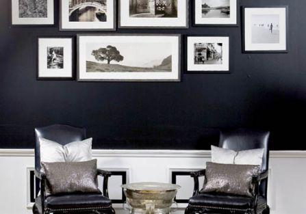 Ramki na zdjęcia w salonie