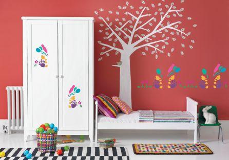 Wzór można umieścic na ścianie i na meblach.