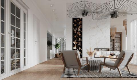 biały salon w stylu nowoczesnym