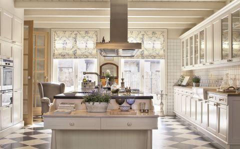 kuchnia w stylu rustykalnym z wyspą