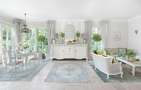 aranżacja klasycznego białego salonu
