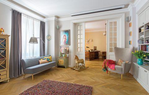 eklektyczne wnętrza: salon w stylu vintage i nowoczesnym