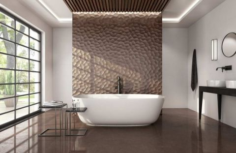 trójwymiarowe płytki łazienkowe