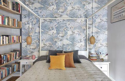 sypialnia ściana za łóżkiem