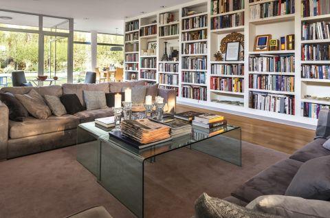 salon w stylu modernistycznym