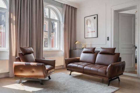 skórzana sofa brązowa