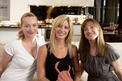 W środku właścicielka apartamentu Agata Krysiak, z lewej Dorota Kuć, z prawej Karina Snuszka -