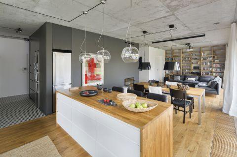 nowoczesne wnętrze kuchnia wyspa