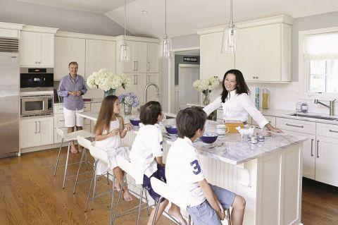 Dom w stylu Nantucket kuchnia