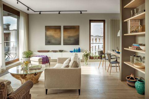 nowoczesne wnętrze salon jasne kolory