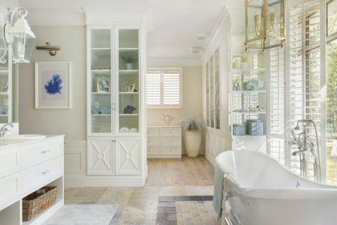 łazienka w stylu hamptons
