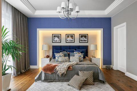 niebieski we wnętrzu - aranżacja sypialni