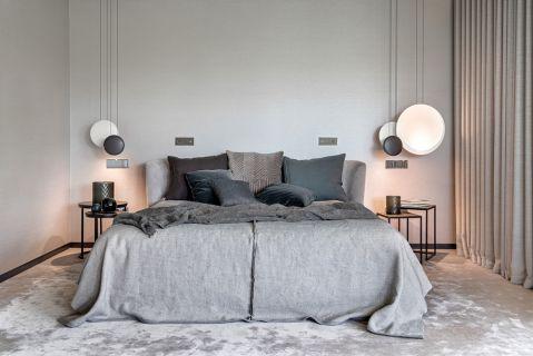 styl nowoczesny szara sypialnia