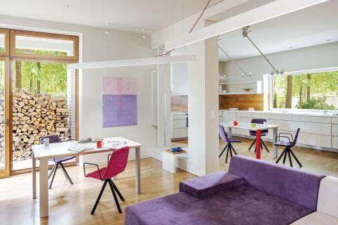 nowoczesne wnętrze salon kolory dodatki