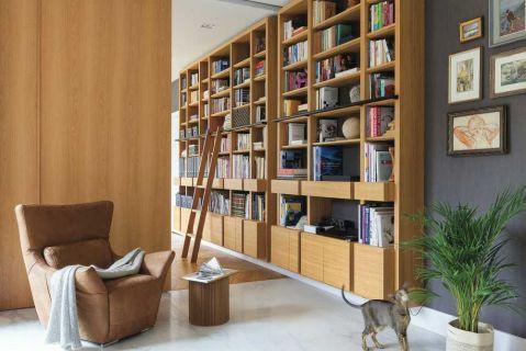 nowoczesny dom biblioteka półki na książki