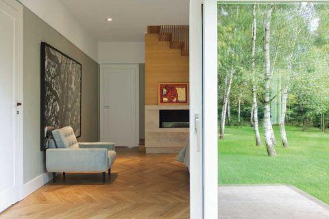 nowoczesny dom widok na ogród