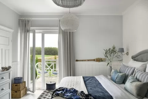 styl hampton sypialnia