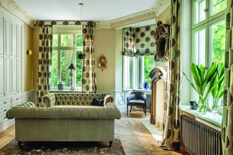 stylowy apartament aranżacja salonu
