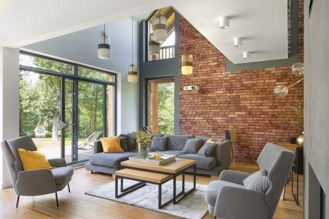 styl loftowy aranżacja salonu