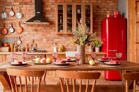 wystrój kuchni w stylu rustykalnym