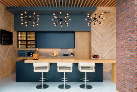 aranżacje kuchni z drewnem
