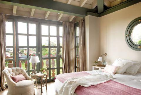 w rustykalnym stylu sypialnia kolory