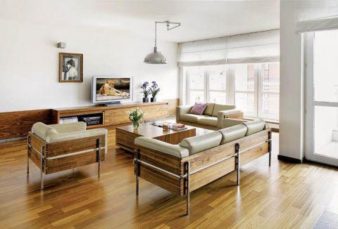 Skórzane kanapy i fotel. Apartament palisandrowy