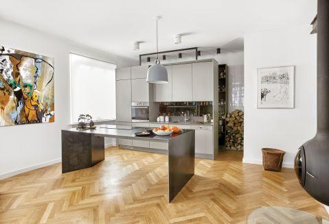 stylowe wnętrze minimalizm kuchnia