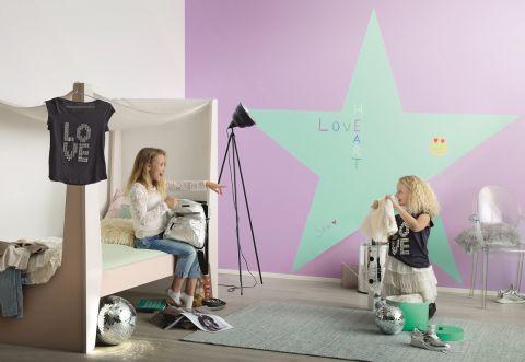 pomysł na ściany w pokoju nastolatki