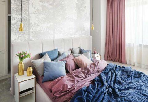nowoczesna pastelowa sypialnia
