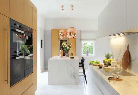 nowoczesny dom drewniana kuchnia