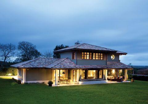 dom w rustykalnym stylu
