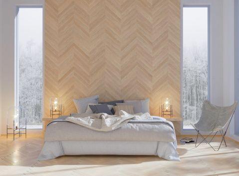Salon, kuchnia i sypialnia w kolorach natury